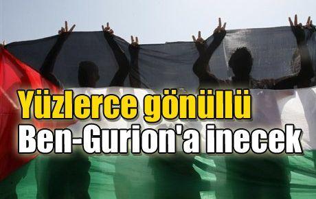 Yüzlerce gönüllü Ben-Gurion'a inecek