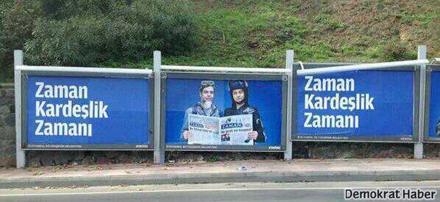 Zaman'dan şaşırtan 'Gezi' afişi