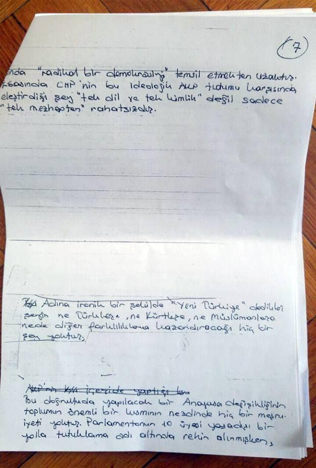 demirtaş mektup